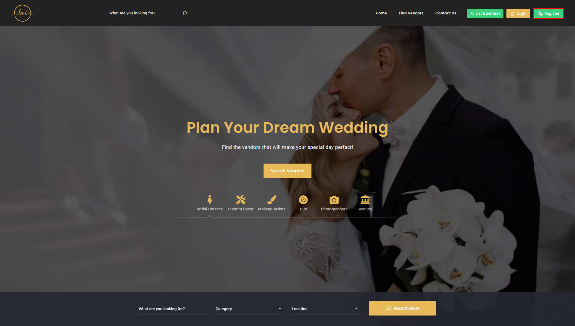 The Wedding Inventory Home Register