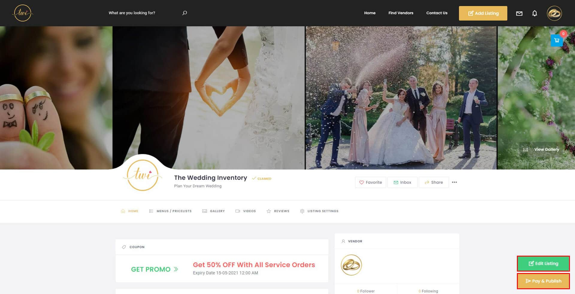 The Wedding Inventory Listing Review